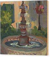 La Quinta Resort Fountain Wood Print