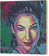 La Reina De Miami Wood Print by Maria Arango