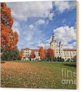 La Roche College On A Fall Day Wood Print