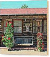 La Rosa Motel Pioneer Town Wood Print