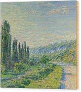 La Route De Vetheuil Wood Print