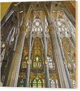 La Sagrada Familia Iv Wood Print