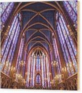 La Sainte-chapelle Upper Chapel, Paris Wood Print