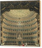 La Scala, Milan, During A Performance Wood Print