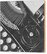La Tecnica - The Typewriter Of Julio Wood Print