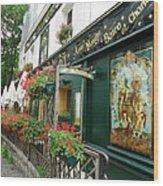 La Terrasse In Montmartre Wood Print