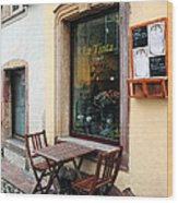 La Tinta Cafe Wood Print