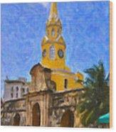 La Torre Del Reloj Wood Print