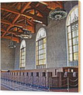 Los Angeles Union Station At Its 75th Anniversary Wood Print