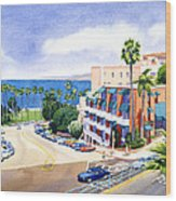 La Valencia And Prospect Park Inn Lj Wood Print