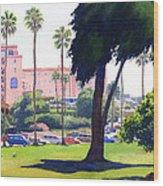 La Valencia Hotel And Cypress Wood Print