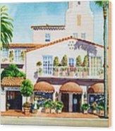 La Valencia Hotel Wood Print