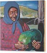 La Vendeuse De Melon Wood Print