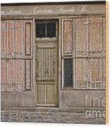 La Vie En Roses Is Closed Wood Print by Olivier Le Queinec