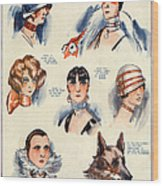 La Vie Parisienne 1924 1850s France F Wood Print by The Advertising Archives