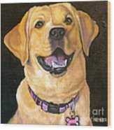 Lab Adorable Wood Print by Susan A Becker