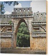 Labna Maya Arch Wood Print