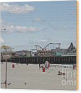 Labor Day At The Pier  Wood Print