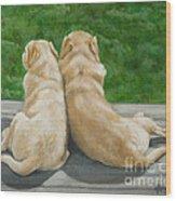 Labrador Lazy Afternoon Wood Print