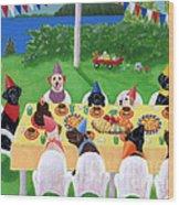 Labrador Party Wood Print