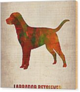 Labrador Retriever Poster Wood Print by Naxart Studio