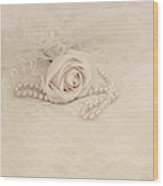 Lace And Promises Wood Print by Kim Hojnacki