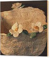 Lace Bowl Sculpture Wood Print by Debbie Limoli
