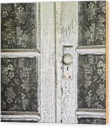 Lace Curtains Wood Print