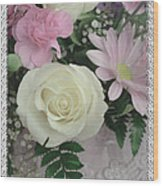 Lace Framed Mothers Day Wood Print