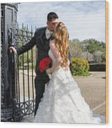 Lacey And Adam Wedding 1 Wood Print