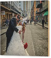 Lacey And Adam Wedding 2 Wood Print