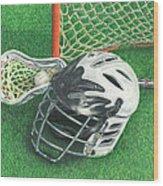 Lacrosse Wood Print
