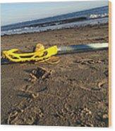 Lacrosse Womens Stick On The Beach Wood Print