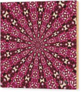 Lacy Orchid Kaleidoscope Wood Print