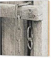 Ladder Chain Bw Wood Print