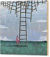 Ladder Cluster Wood Print