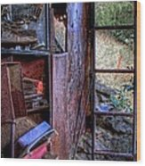 Ladder To The Upstairs Wood Print