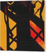 Ladderback Flamenco Wood Print