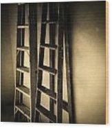 Ladders Wood Print