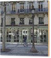 Laduree On The Champs De Elysees In Paris France  Wood Print