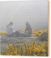 Dublin In The Mist Wood Print