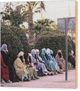Ladies In Waiting Wood Print