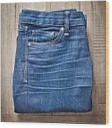 Ladies' Jeans Wood Print