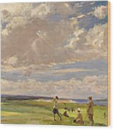 Lady Astor Playing Golf At North Berwick Wood Print