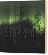 Lady Aurora's Dance Wood Print