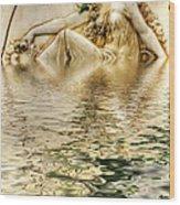 Lady Bathing Wood Print