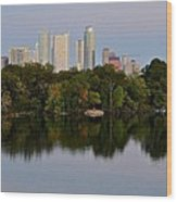 Lady Bird Lake In Austin Texas Wood Print