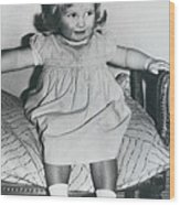 Lady Diana A Chubby Two-year Old Wood Print