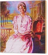 Lady Diana Our Princess Wood Print