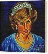 Lady Diana Portrait Wood Print